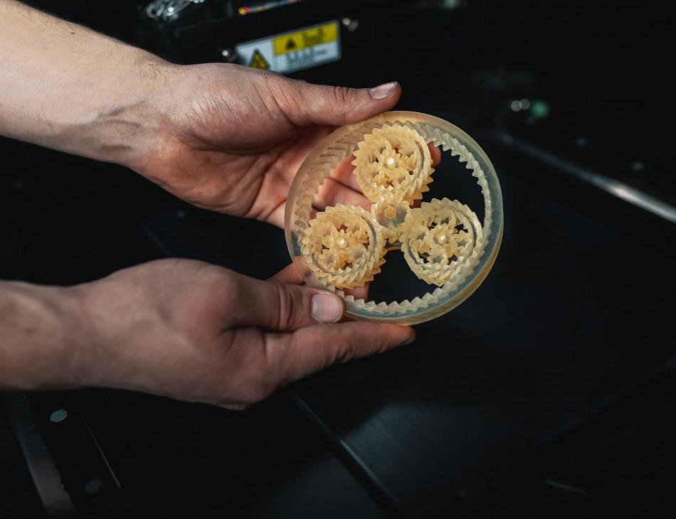 3D-Getriebe aus dem Drucker